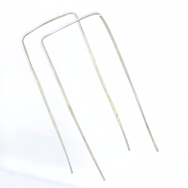 Rectangle Geometric Sterling Silver Earrings - The Pink Locket