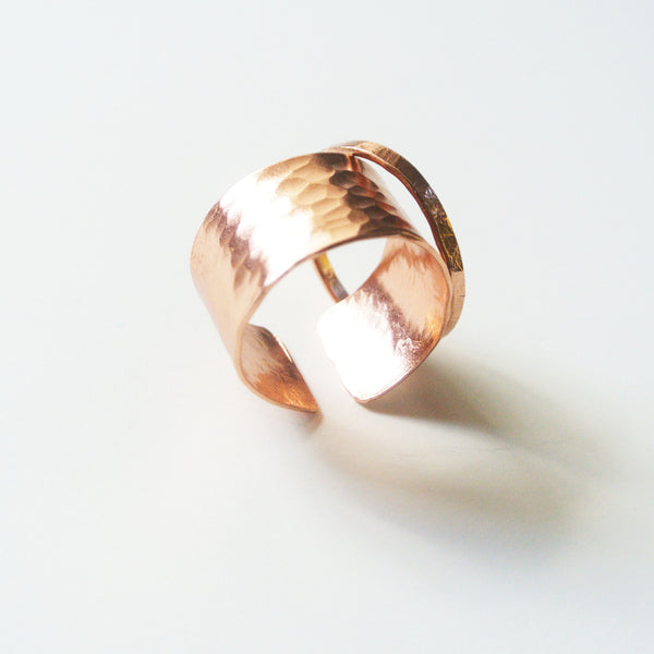 Gina - Copper Stackable Rings - The Pink Locket - 2