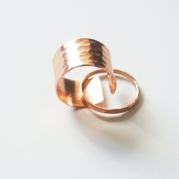 Gina - Copper Stackable Rings - The Pink Locket - 1