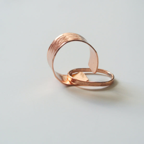Gina - Copper Stackable Rings - The Pink Locket - 5