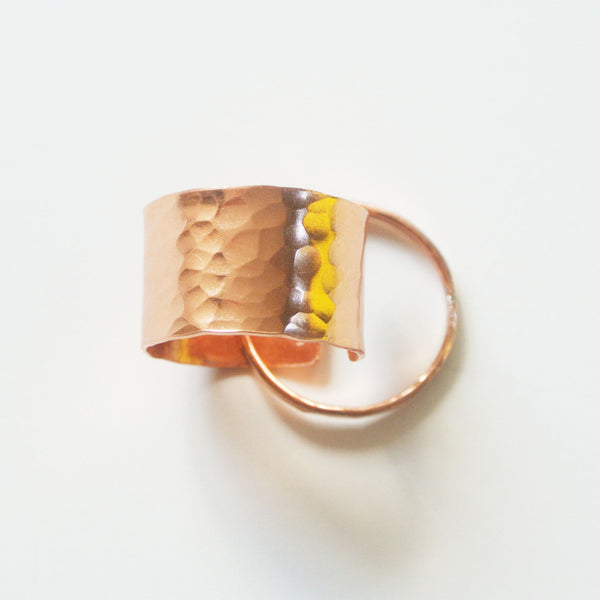 Gina - Copper Stackable Rings - The Pink Locket - 6