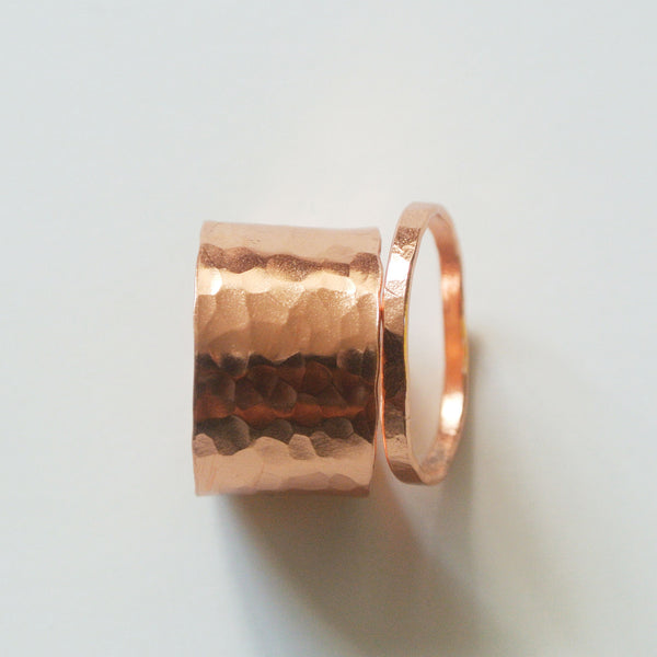 Gina - Copper Stackable Rings - The Pink Locket - 7
