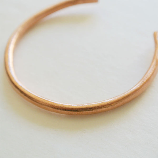Giselle - Copper Cuff Bangle Bracelet - The Pink Locket
