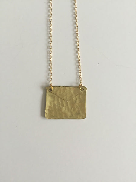 Gold Envelope Necklace - The Pink Locket - 2