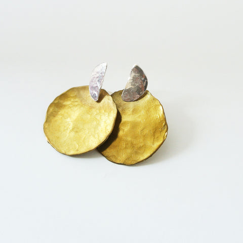 Darlene - Sterling Silver and Gold Ear Jacket Earrings