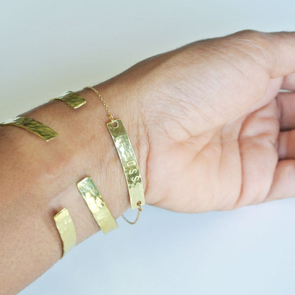 Isis - Twisted Gold Cuff Bracelet