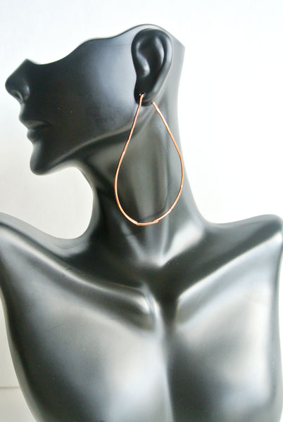 Havi - Teardrop Threader Earrings Copper - The Pink Locket - 4
