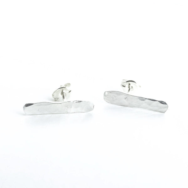 Maria - Sterling Silver Ear Climber Bar Stud Earrings