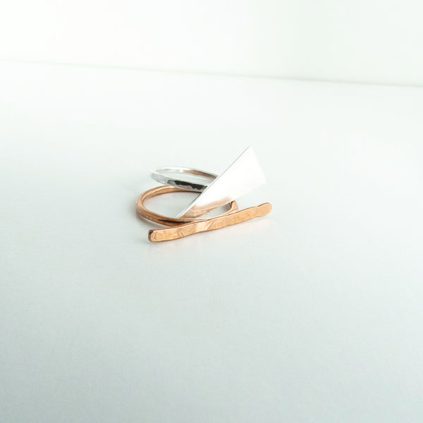 Shauntane - Copper Bar Ring - The Pink Locket