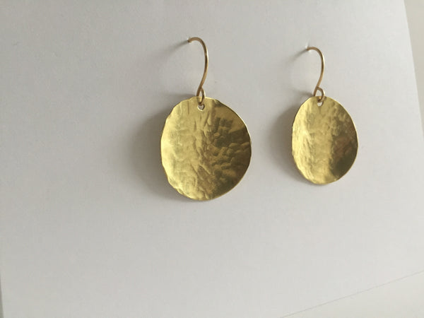 Steel Pan Gold - Dangle Gold Earrings - The Pink Locket - 4