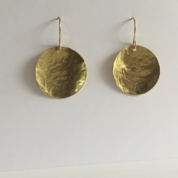 Steel Pan Gold - Dangle Gold Earrings - The Pink Locket - 2