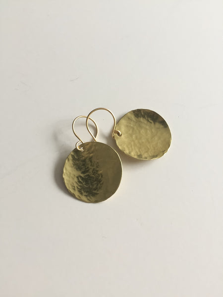 Steel Pan Gold - Dangle Gold Earrings - The Pink Locket - 3