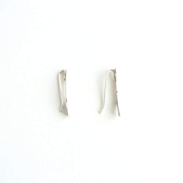 Johanna - Sterling Silver Ear Climber Earrings