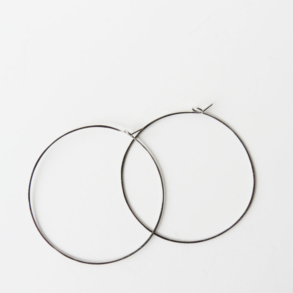 "Titanium Hoop Earrings - 2 1/4"" Wide - Nickel Free Earrings - The Pink Locket - 1"