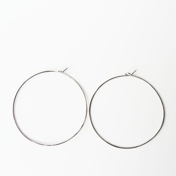"Titanium Hoop Earrings - 2 1/4"" Wide - Nickel Free Earrings - The Pink Locket - 2"