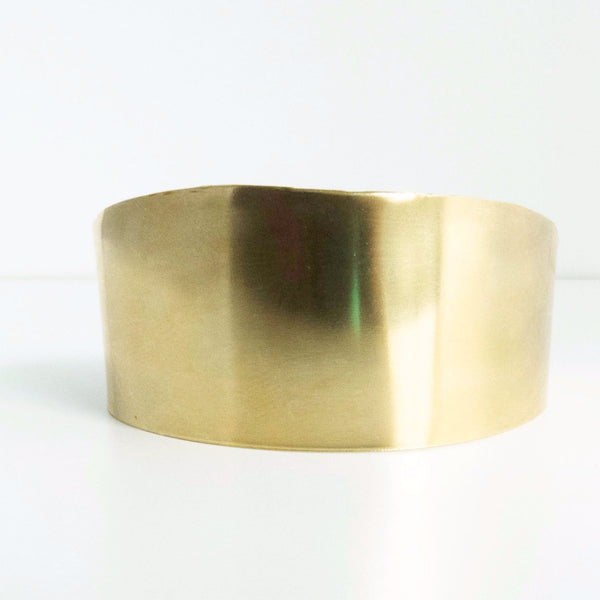 Half Circle Brass Gold Cuff Bracelet