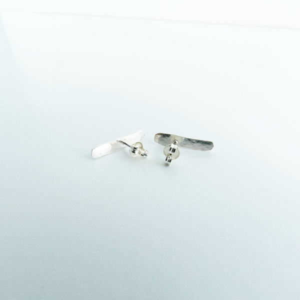 Sterling Silver Ear Climber Bar Stud Earrings