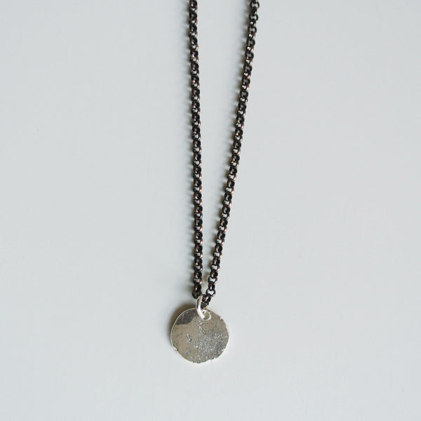 Robbie - Men's Sterling Silver Pendant with Copper Chain