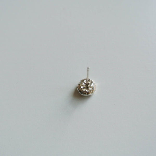 Men's Sterling Silver Stud Post Earring 7mm wide