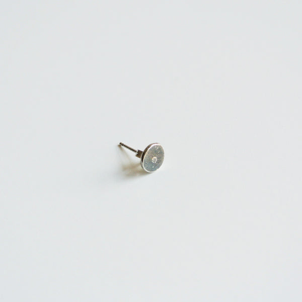 Men's Sterling Silver Oxidized Stud Post Earring 7mm wide