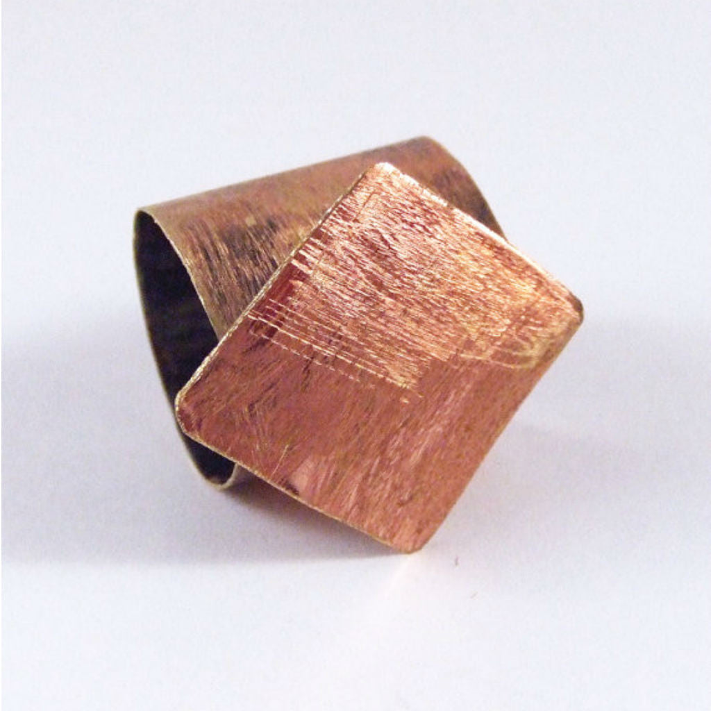 Shelby - Copper Diamond Shaped Geometric Statement Ring - The Pink Locket