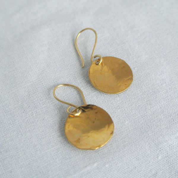 Mini Gold Steel Pan Earrings - The Pink Locket - 2