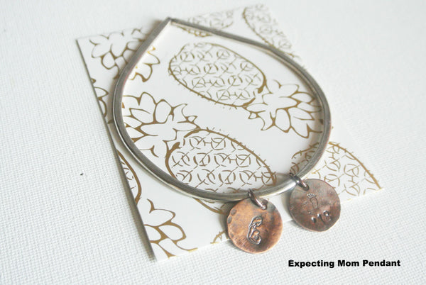 Geometric Tear Shaped Sterling Silver Charm Bracelet - The Pink Locket