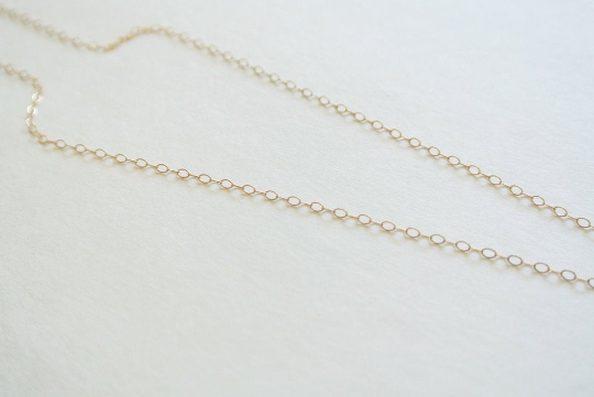 Hand Stamped Gold Bar Necklace - Horizontal Gold Bar