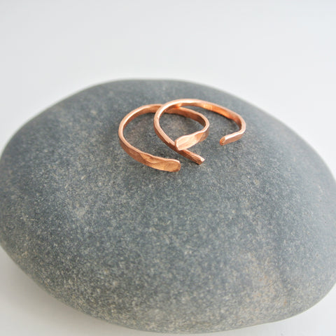 Nia - Copper Stacking Ring Set