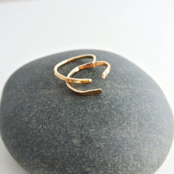 Nia 12kt Gold Filled Stacking Rings Set  - 1 Pair