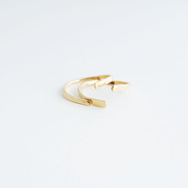Nia 14kt Gold Filled Stacking Rings Set  - 1 Pair
