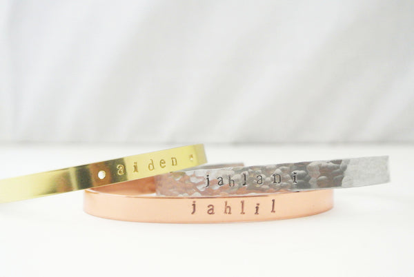Personalized Cuff Bracelet - Copper Cuff - The Pink Locket - 4