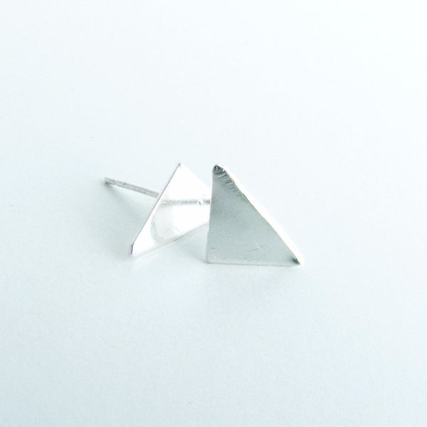 Rikkia - Sterling Silver Triangle Stud Earrings