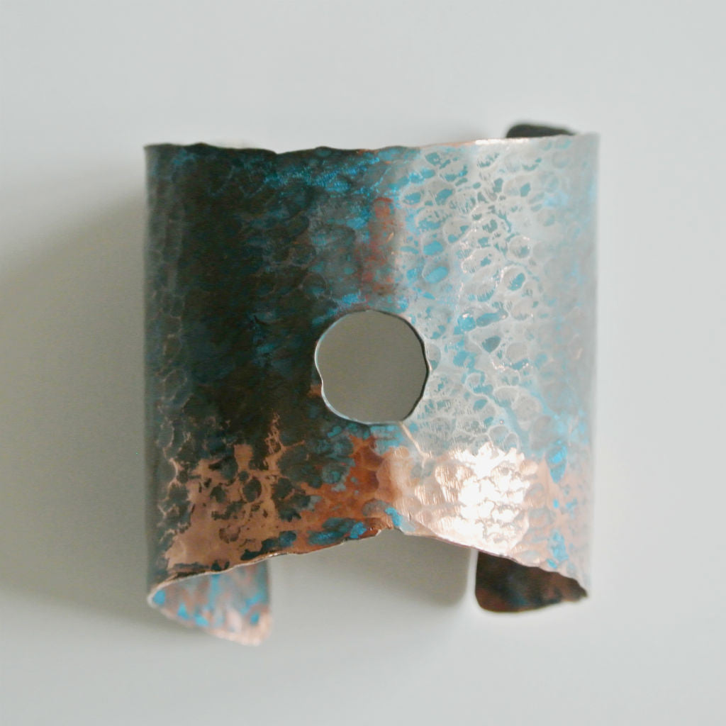 Rough It - Copper Cuff Statement Bracelet - The Pink Locket - 1