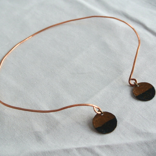 Rough It - Copper Collar Choker Necklace - The Pink Locket - 3