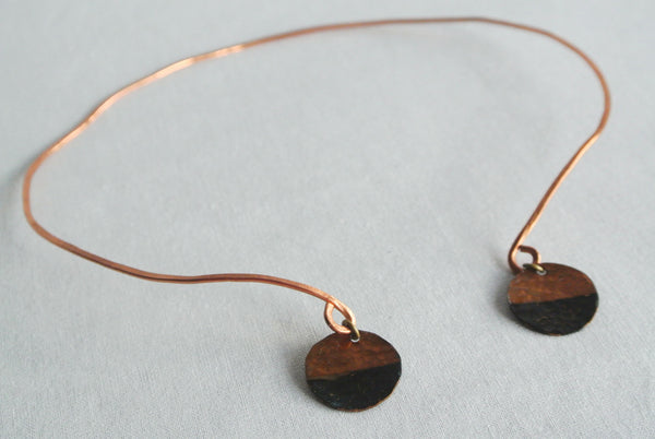Rough It - Copper Collar Choker Necklace - The Pink Locket - 2