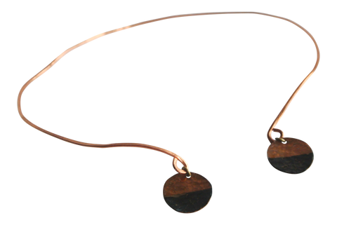 Rough It - Copper Collar Choker Necklace - The Pink Locket - 1