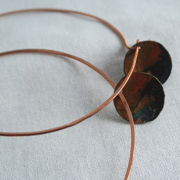 Rough It - Copper Hoop Earrings - The Pink Locket - 3