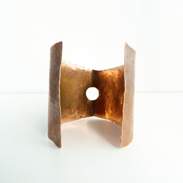 Hammered Copper Statement Cuff 2