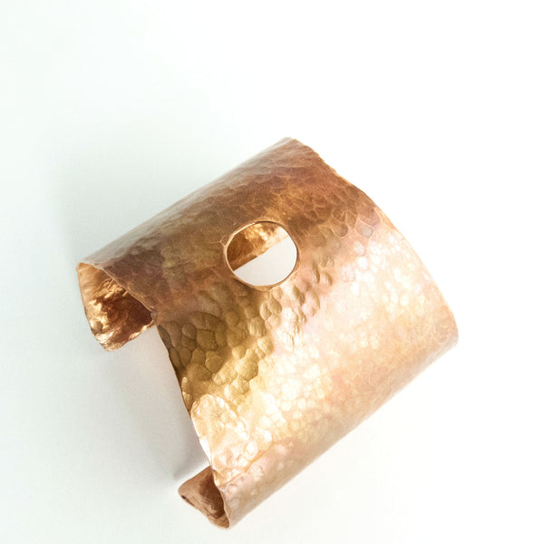 Hammered Copper Statement Cuff 3