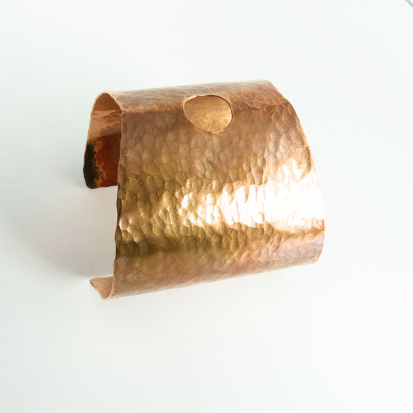 Hammered Copper Statement Cuff 4