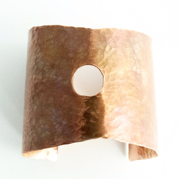 Hammered Copper Statement Cuff 1