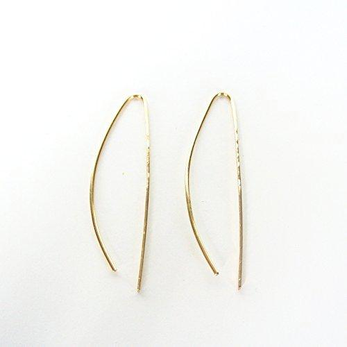 Sasha - Gold Threader Earrings - 2 inches long