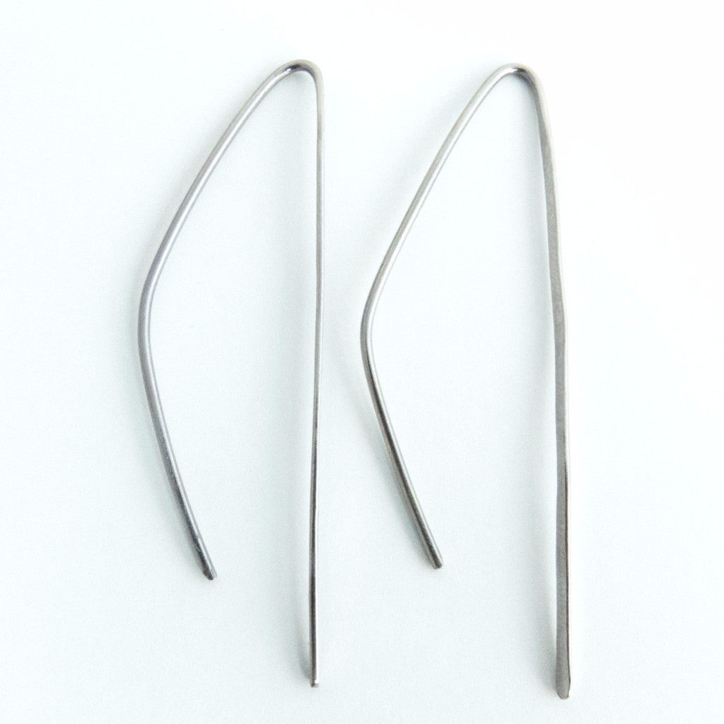 Titanium Threader Drop Earrings 1