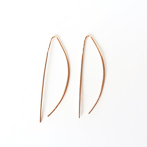 Sasha - Copper Threader Earrings - 2 inches long