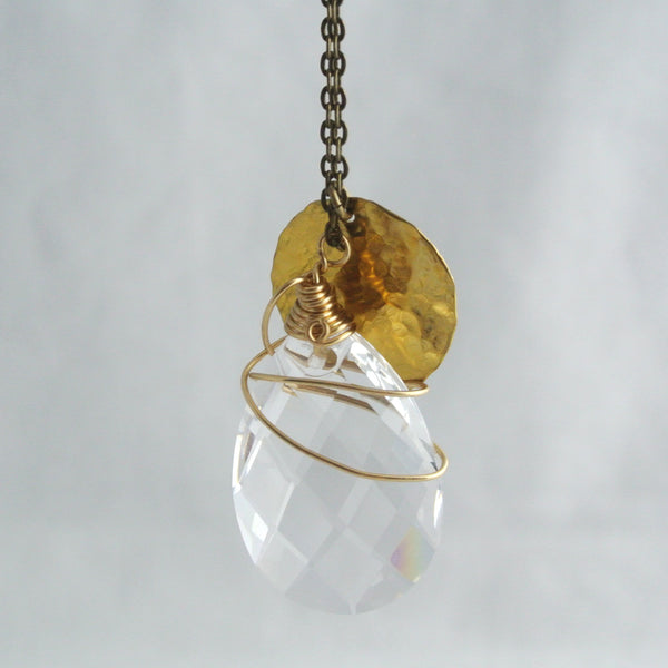 Shari - Gold Crystal Necklace - The Pink Locket