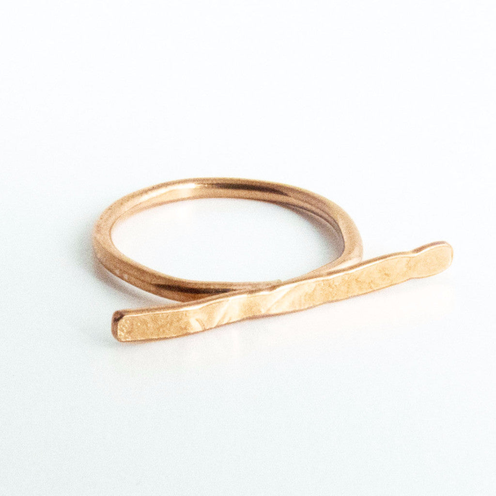 Copper Bar Ring 1