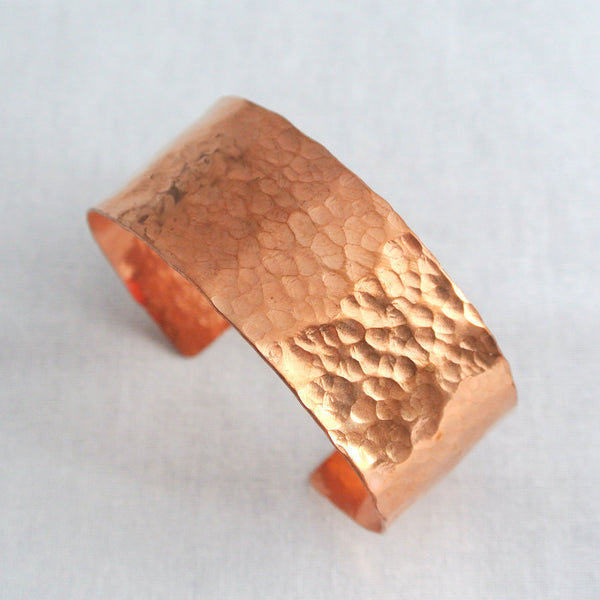 Sheila - Hammered Copper Cuff Bracelet - The Pink Locket - 2
