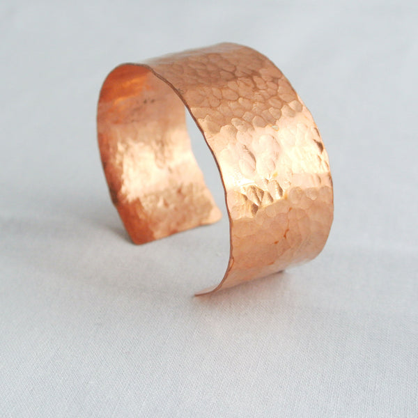 Sheila - Hammered Copper Cuff Bracelet - The Pink Locket - 1