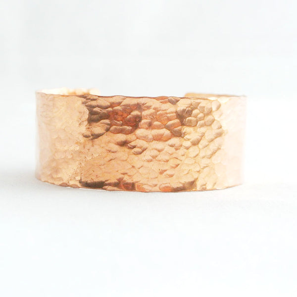 Sheila - Hammered Copper Cuff Bracelet - The Pink Locket